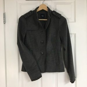 Gap grey wool military coat, size 0.
